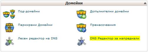 DNS настройки