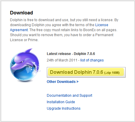 Инсталация на Dolphin