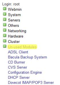 Работа и управление на VPS чрез Webmin
